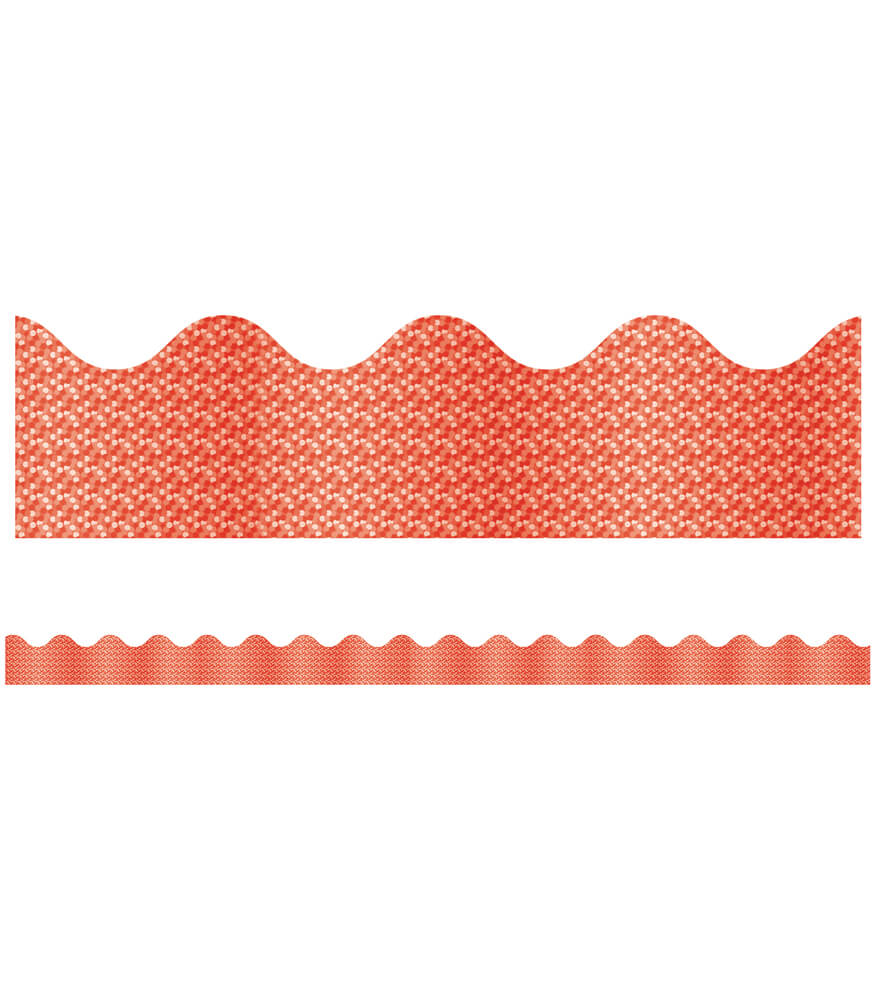 Red Sparkle Scalloped Borders Product Image