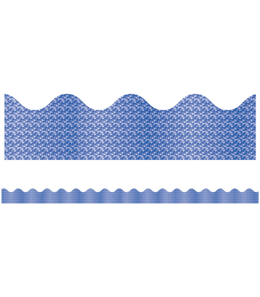 Blue Sparkle Scalloped Borders Product Image