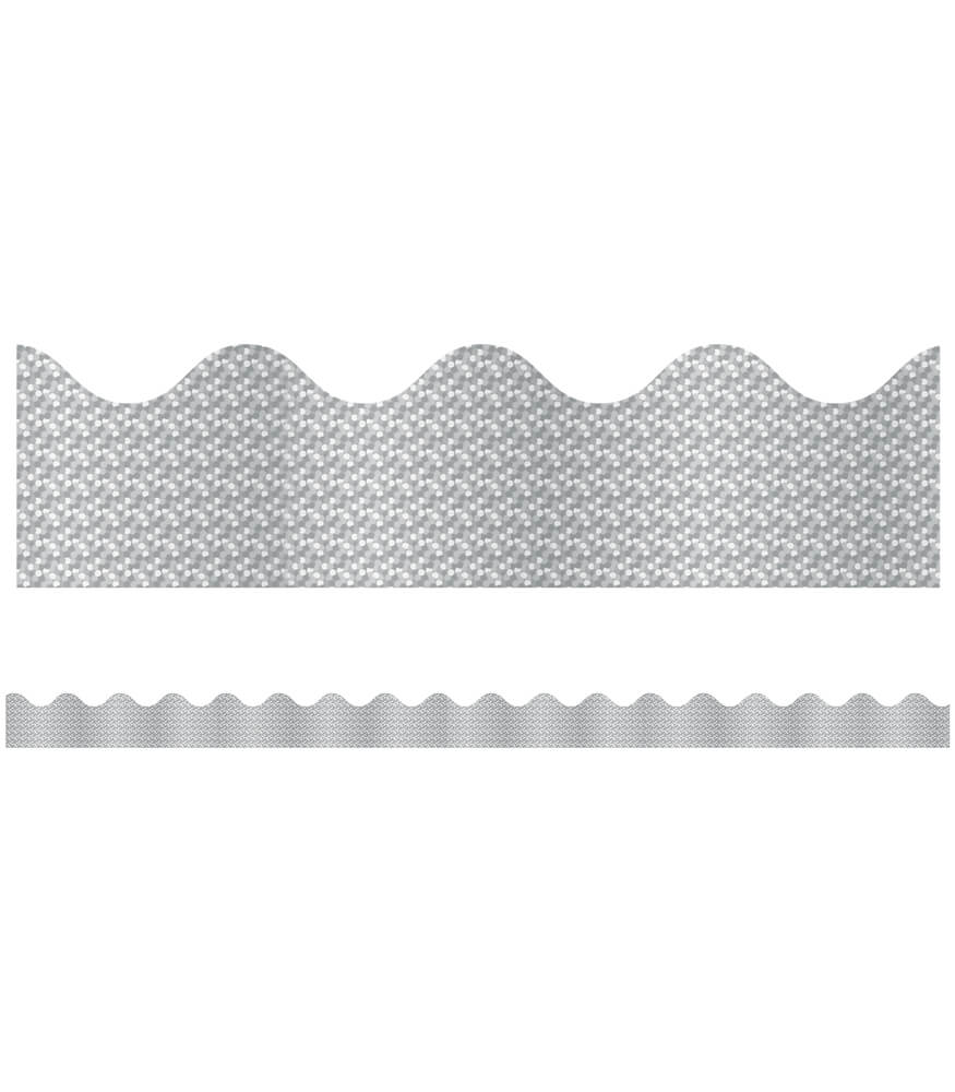 Silver Sparkle Scalloped Borders Product Image