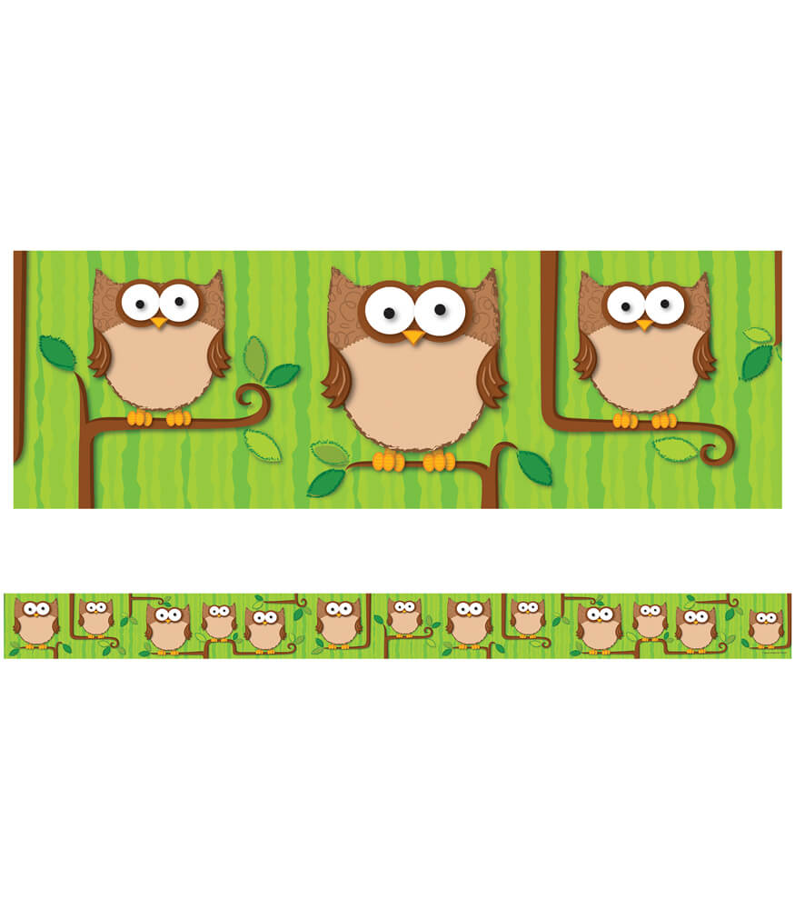 Woodland Owls Straight Borders Product Image
