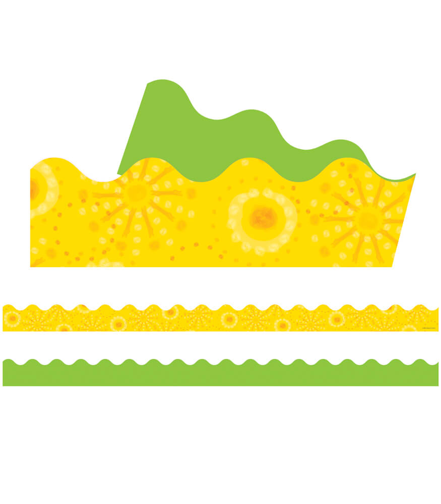 Lemon Lime Scalloped Borders Product Image