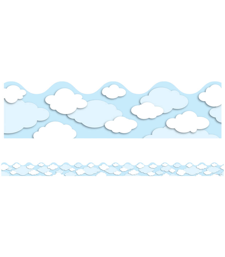 Clouds Scalloped Borders Product Image