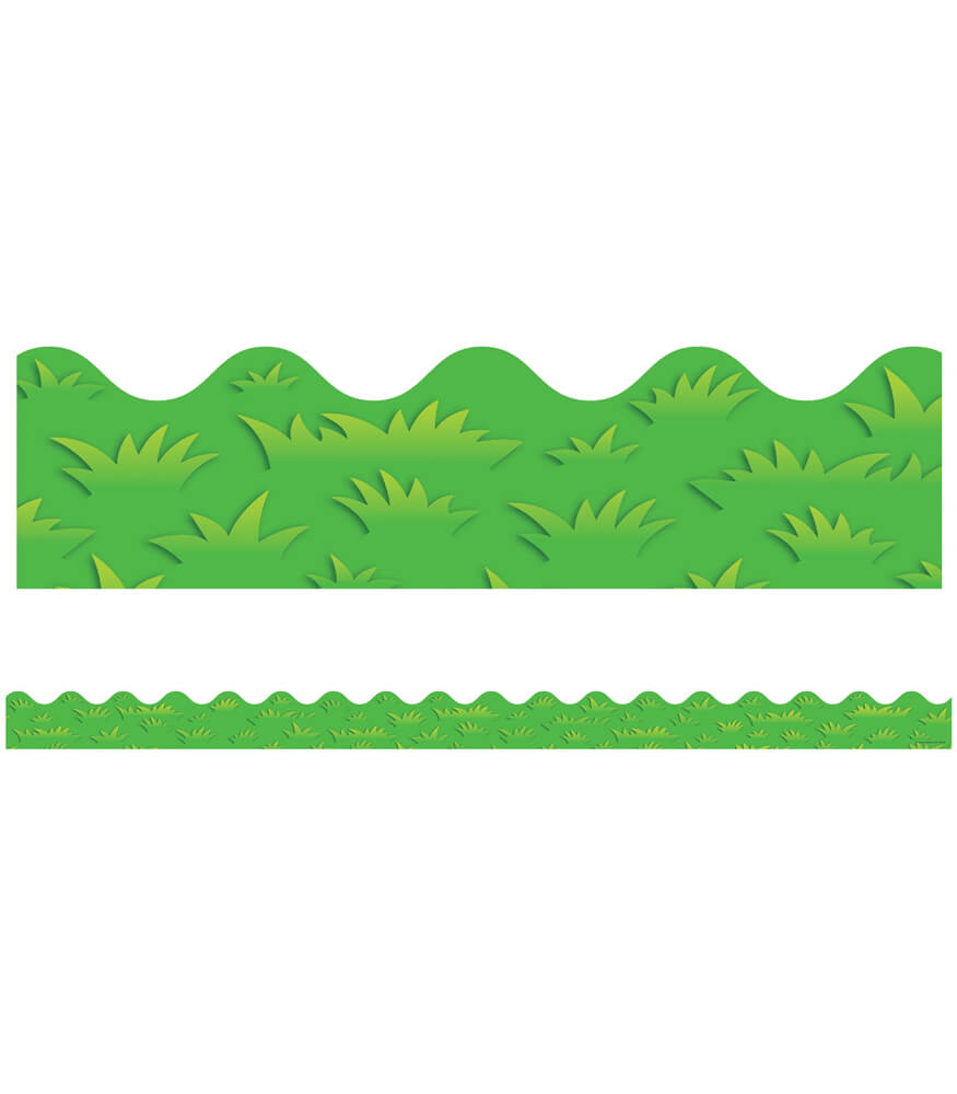 Grass Contemporary  Scalloped Borders Product Image