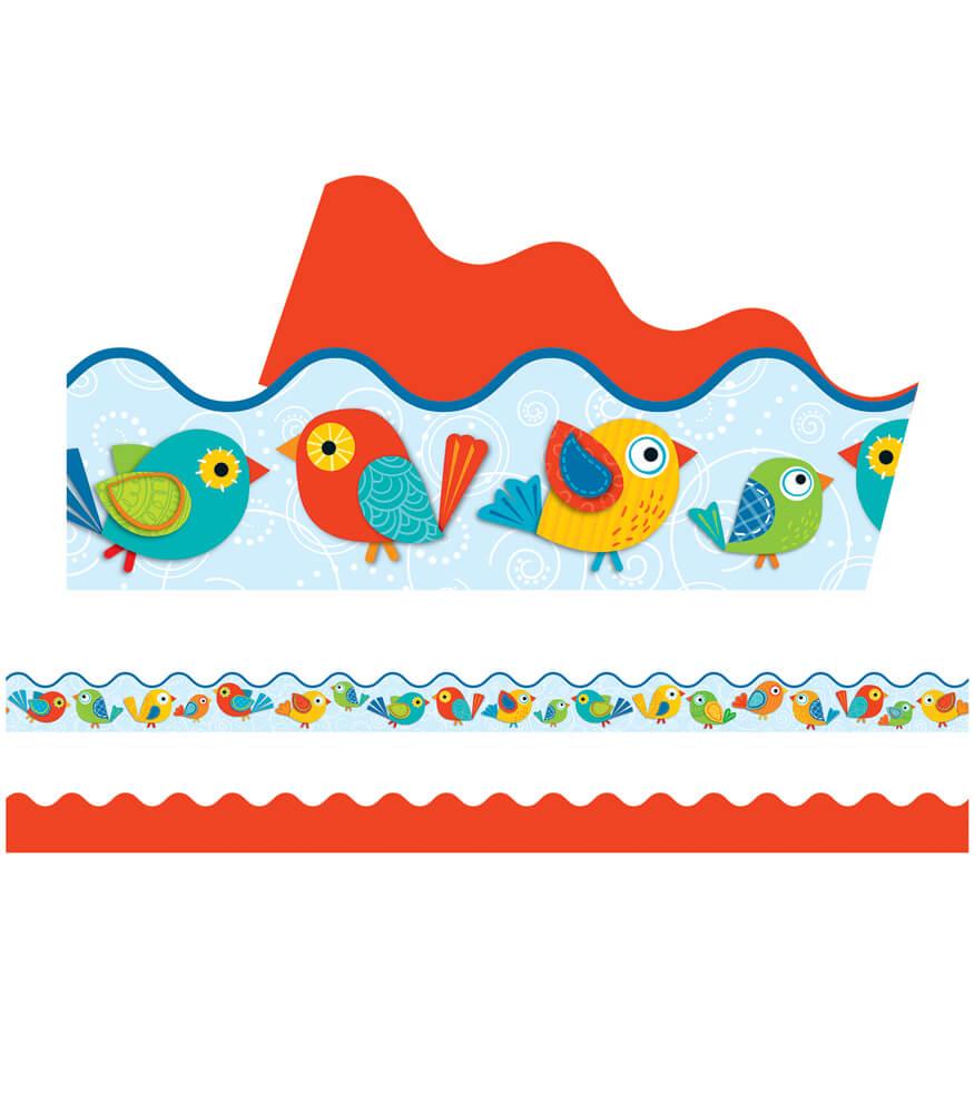 Boho Birds Scalloped Borders Product Image