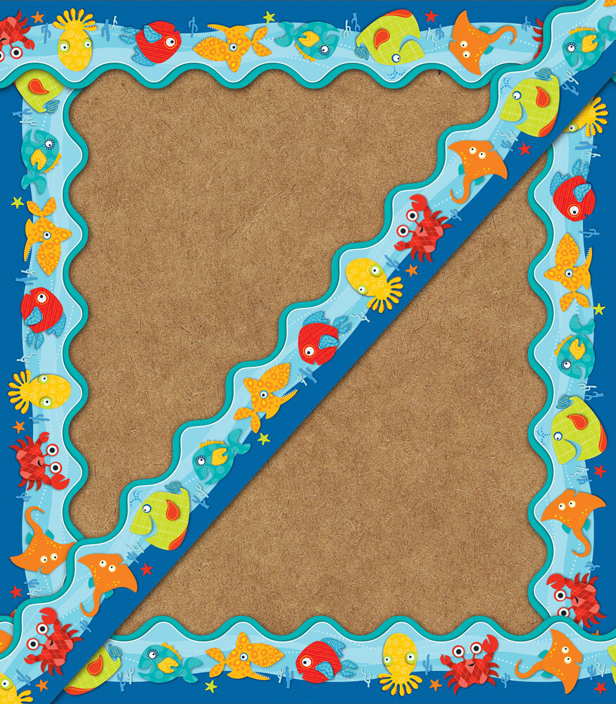Seaside Splash Scalloped Borders Product Image