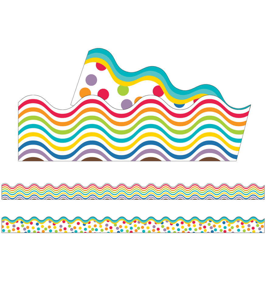 Color Me Bright Scalloped Borders Product Image