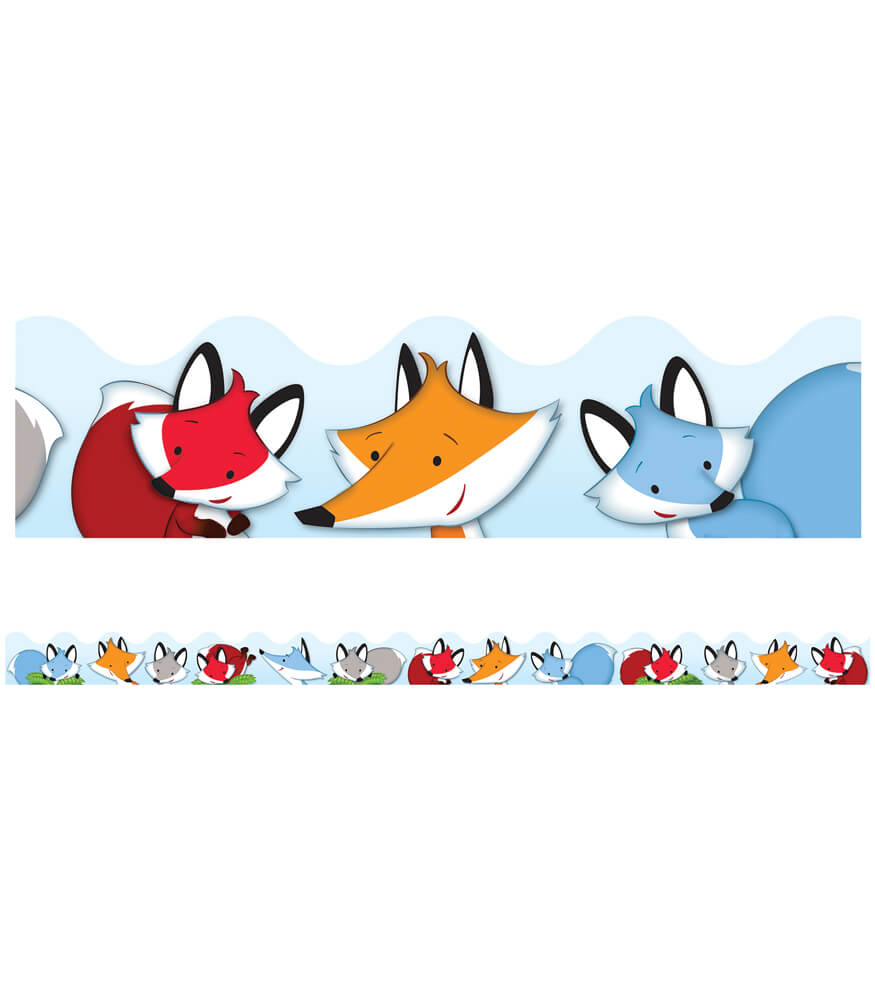 Playful Foxes Scalloped Borders Product Image