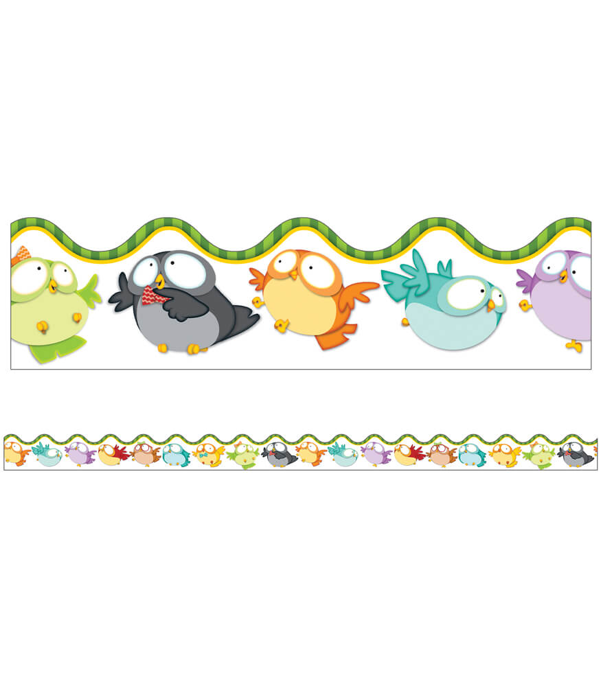 Owl Pals Scalloped Borders Product Image