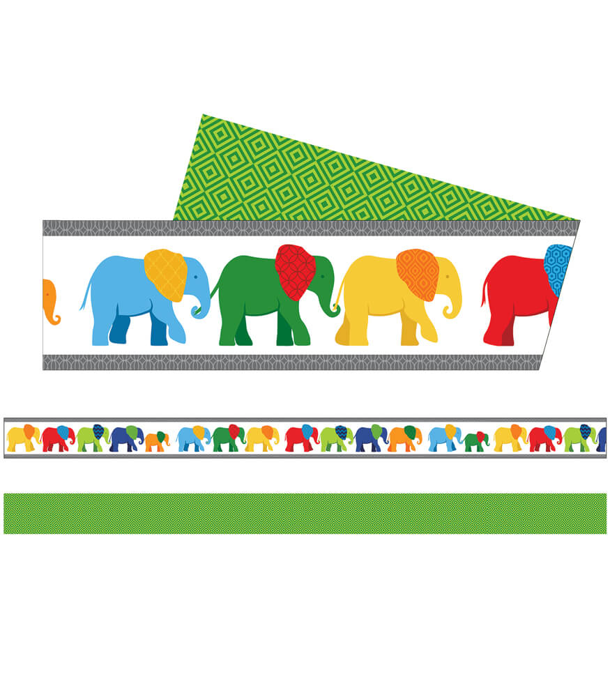 Parade of Elephants Straight Borders Product Image