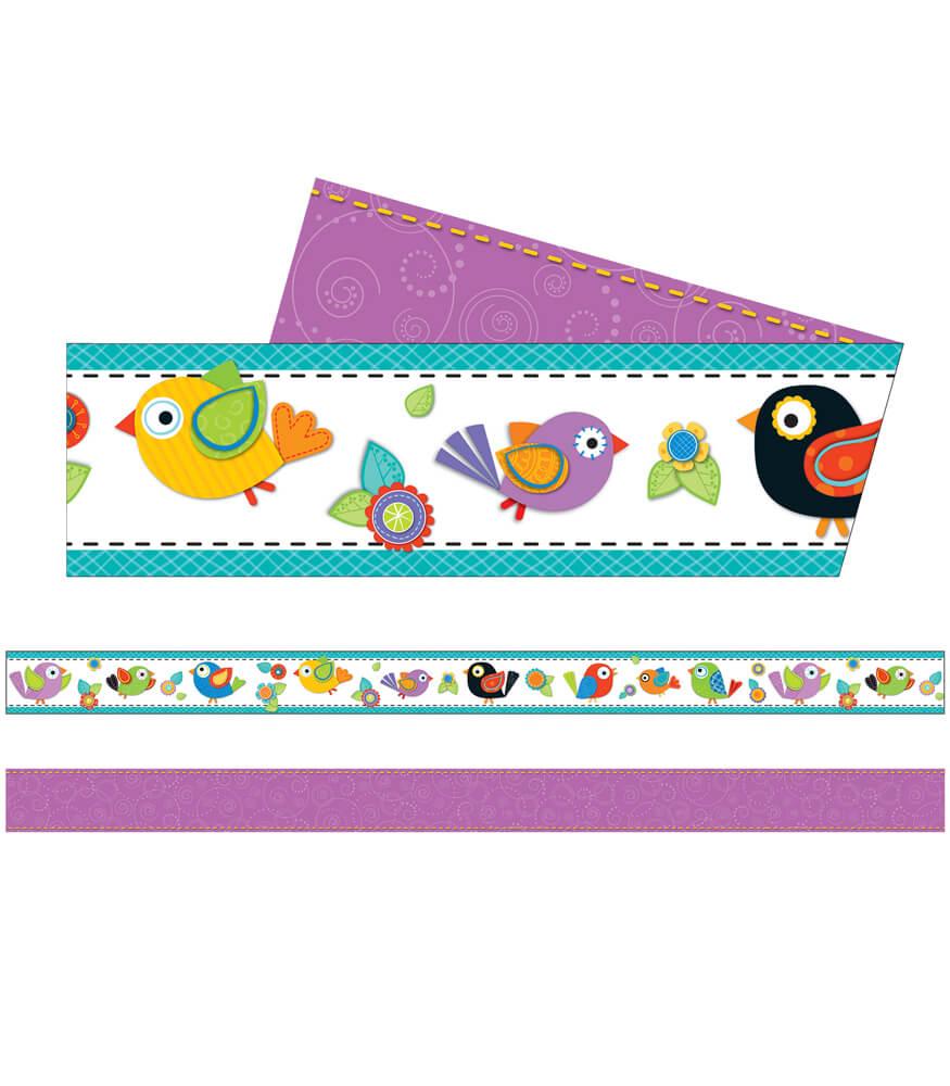 Boho Birds Straight Borders Product Image
