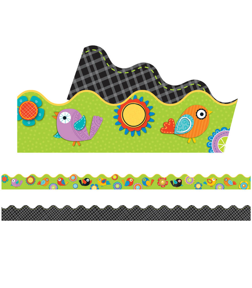 Boho Birds & Blooms Scalloped Borders