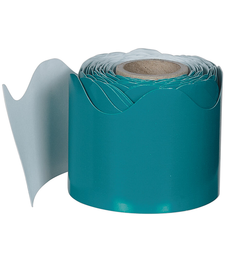 Teal Rolled Scalloped Borders Product Image