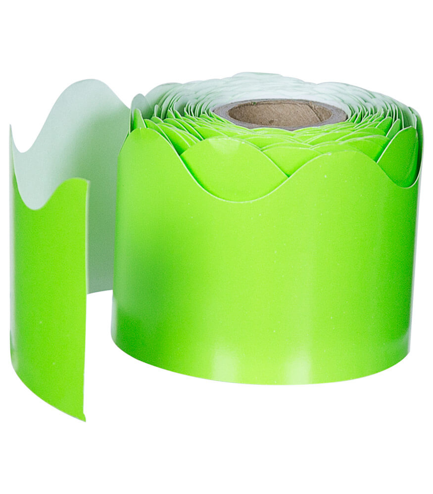 Lime Rolled Scalloped Borders Product Image