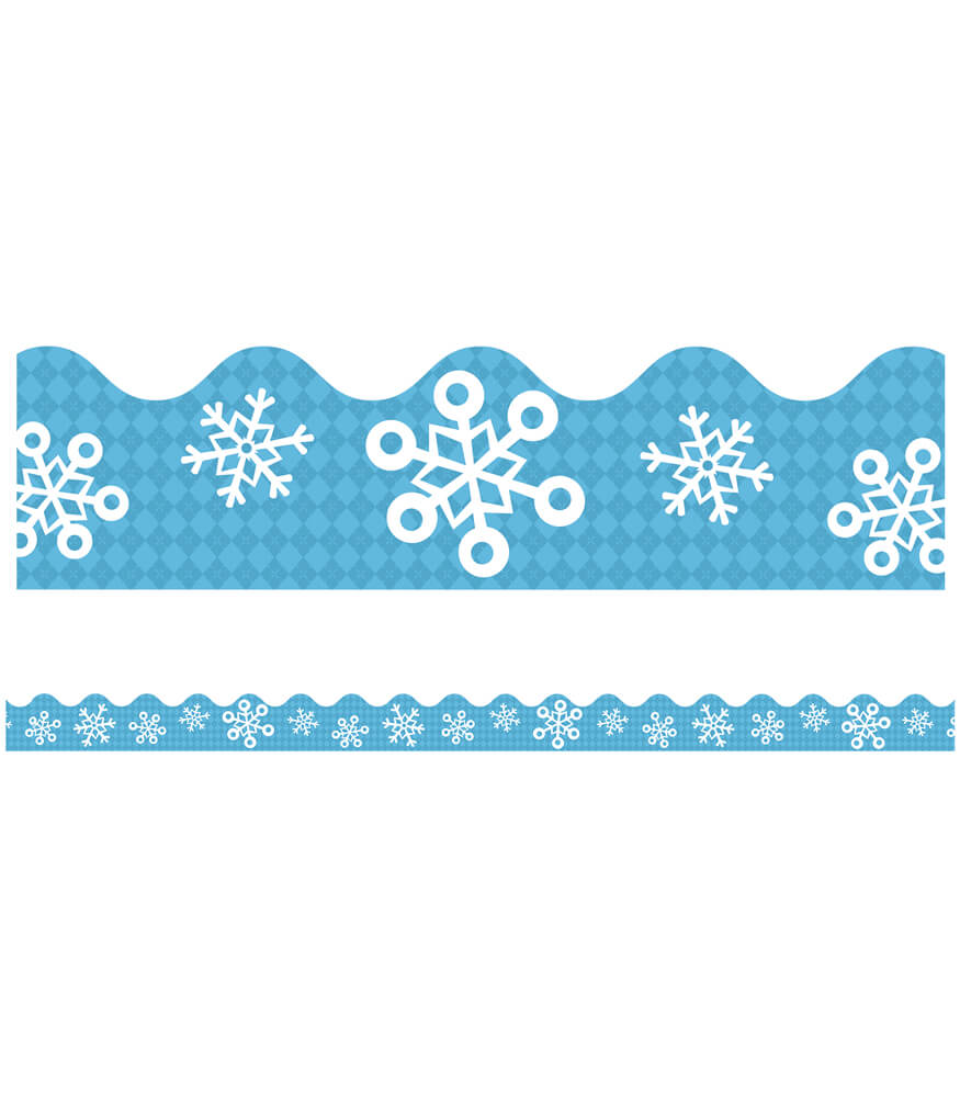 Snowflakes Scalloped Borders