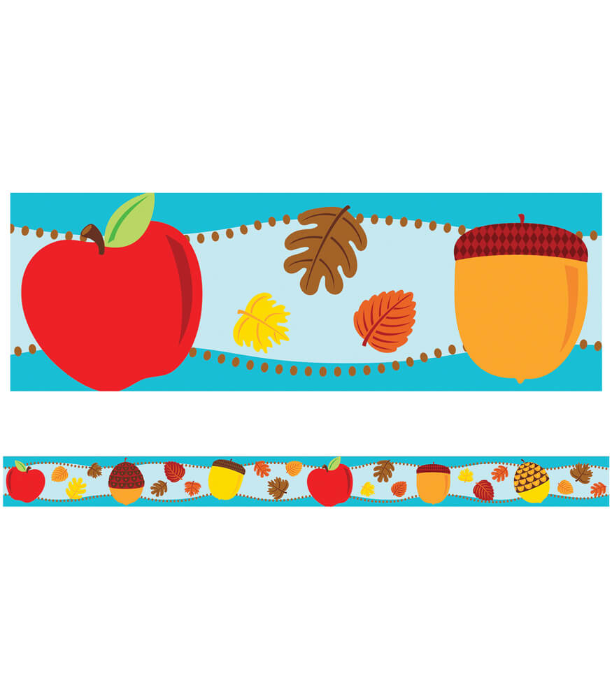 Apples & Acorns Straight Borders Product Image
