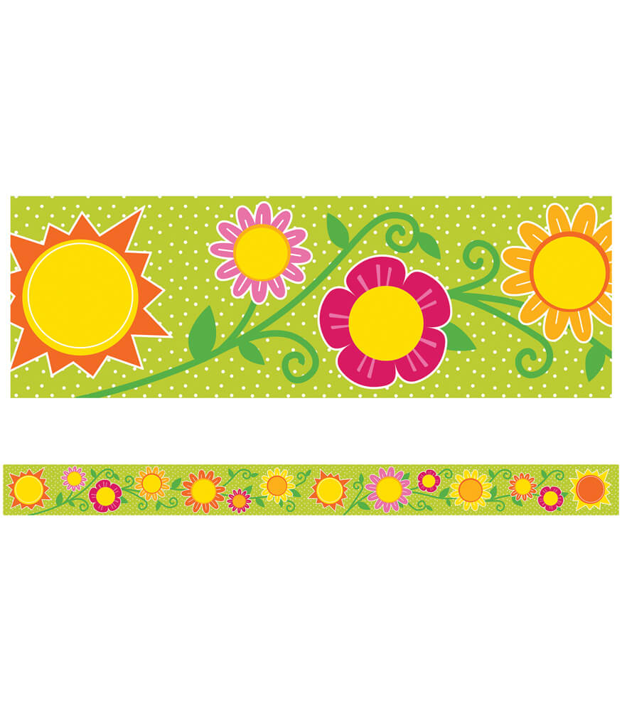 Sunshine & Flowers Straight Borders Product Image