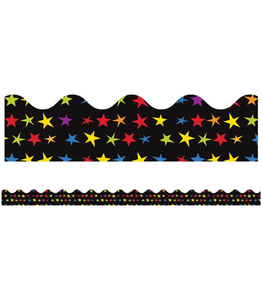 Super Power Super Stars Scalloped Borders Product Image