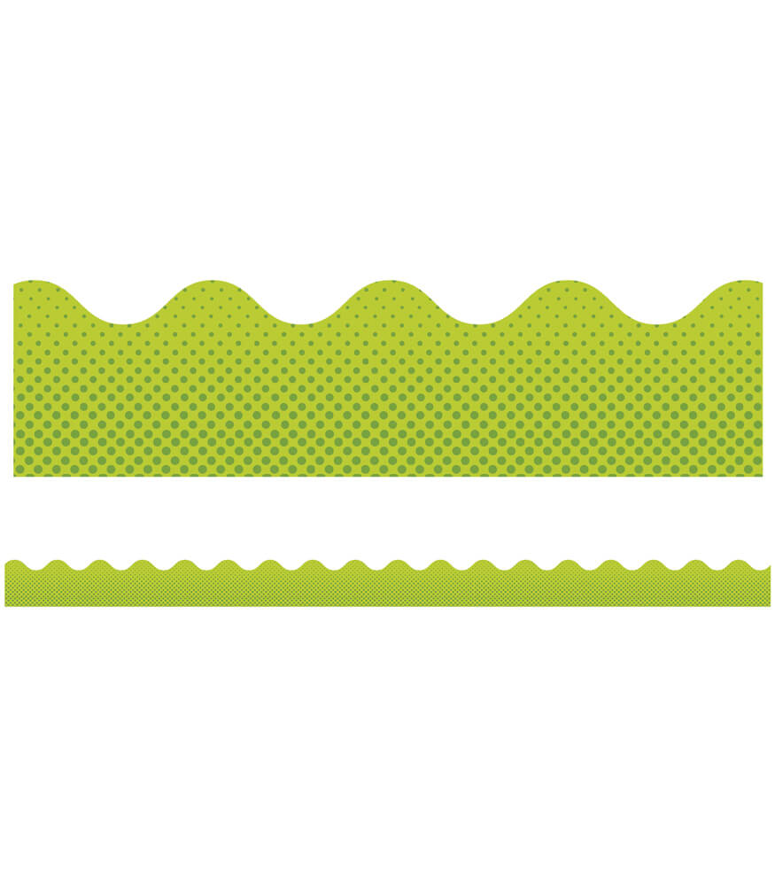 Super Power Laser Lime Scalloped Borders Product Image