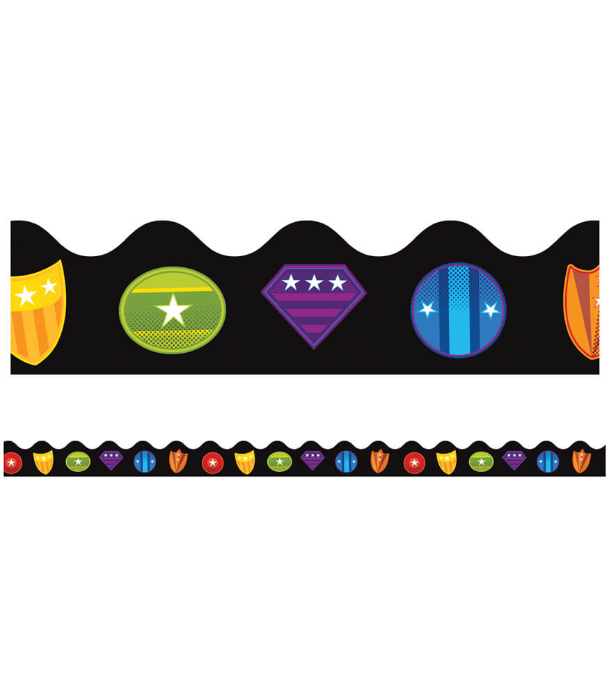 Super Power Shields Scalloped Borders Product Image