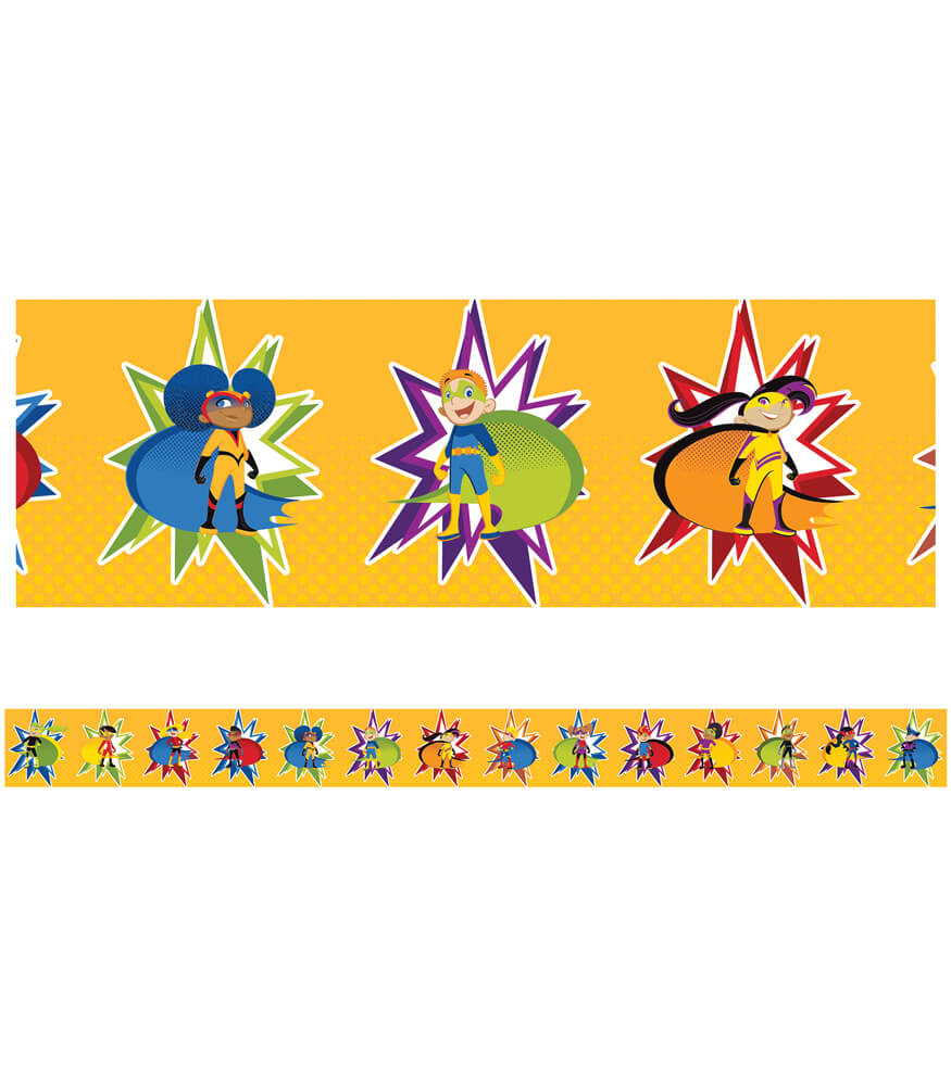Super Power Super Kids Straight Borders Product Image
