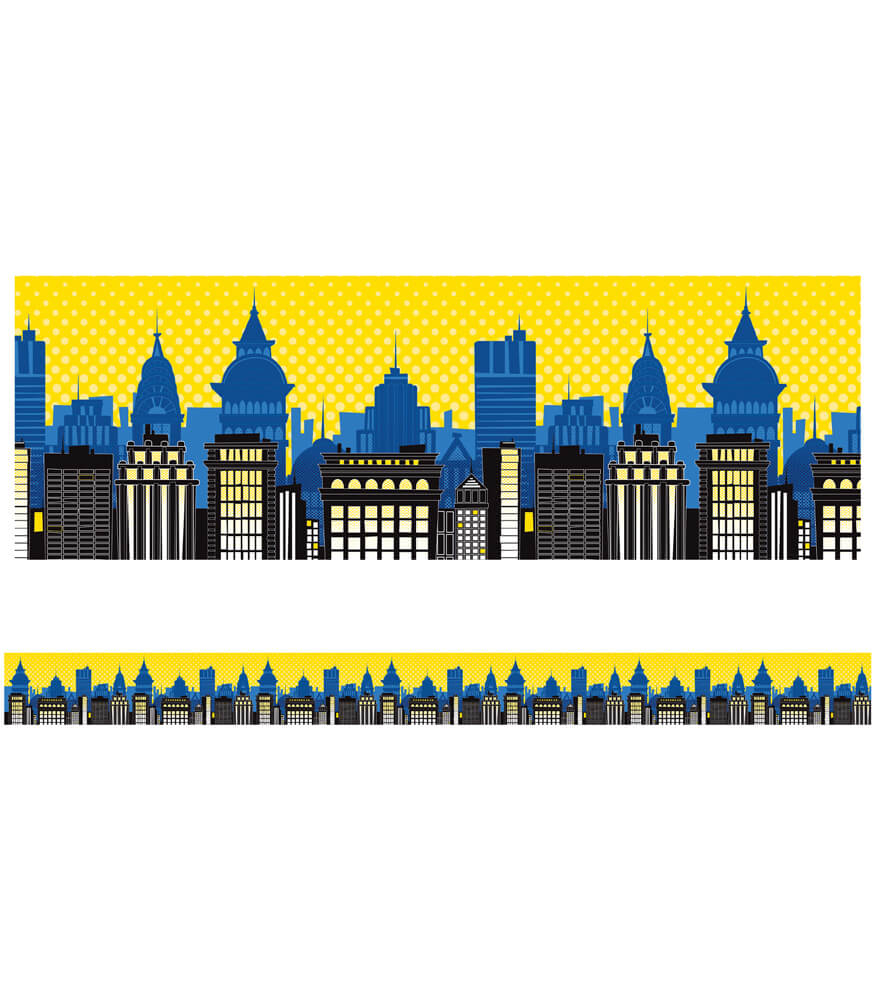 Super Power Skyline Straight Borders Product Image