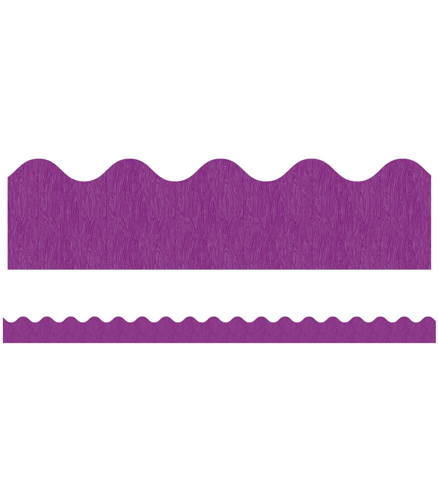 You-Nique Purple Ridge Scalloped Borders Product Image