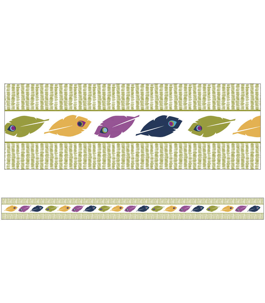 You-Nique Feather Stripe Straight Borders Product Image