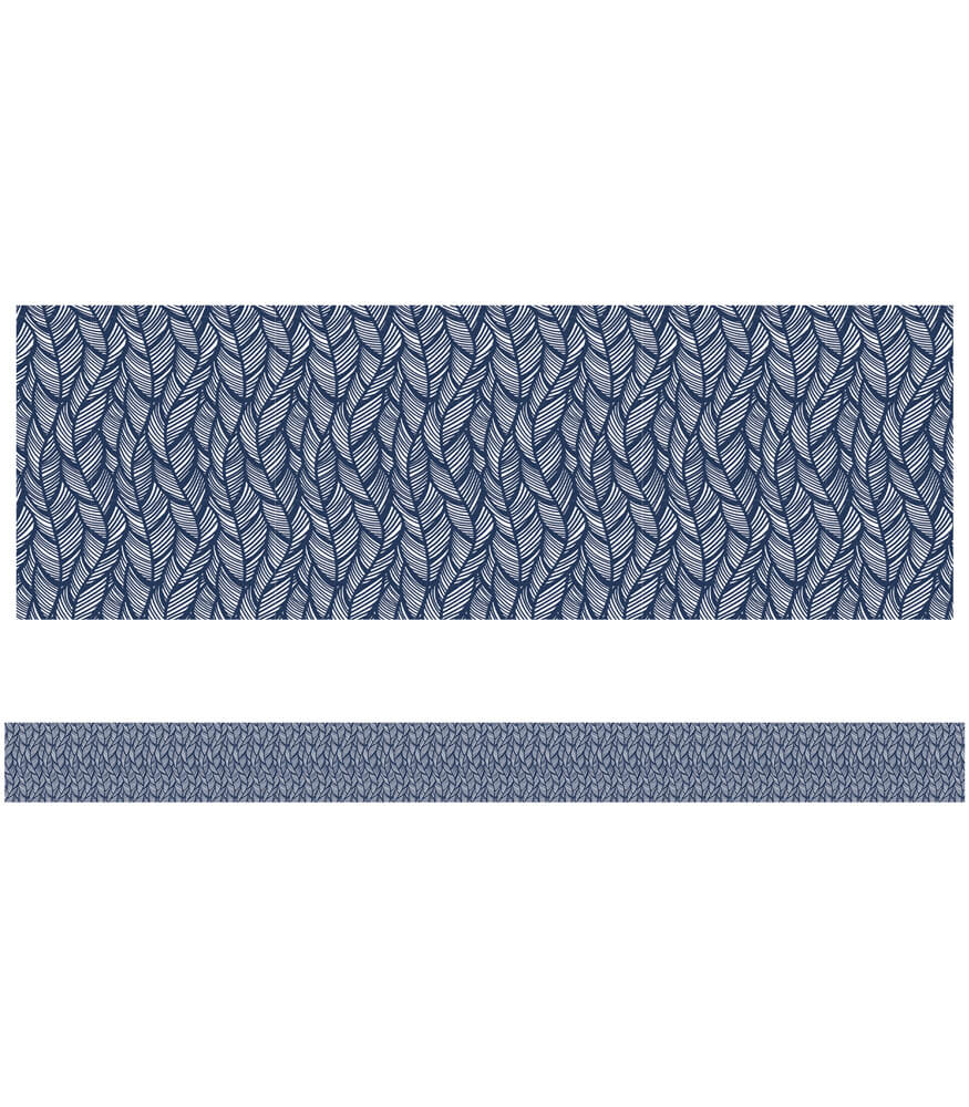 You-Nique Navy Feather Straight Borders Product Image