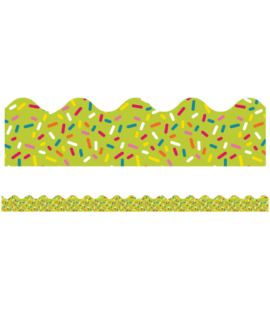 School Pop Lime Sprinkles Scalloped Borders Product Image