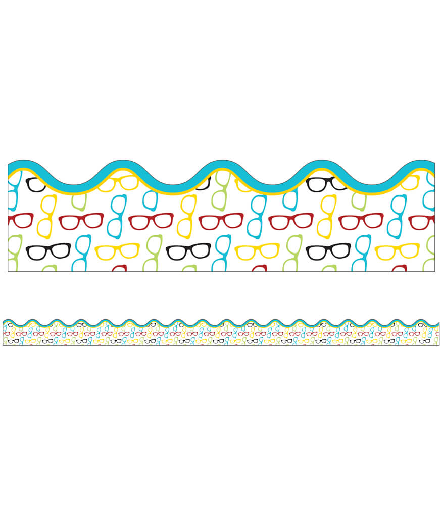 Hipster Glasses Scalloped Borders Product Image