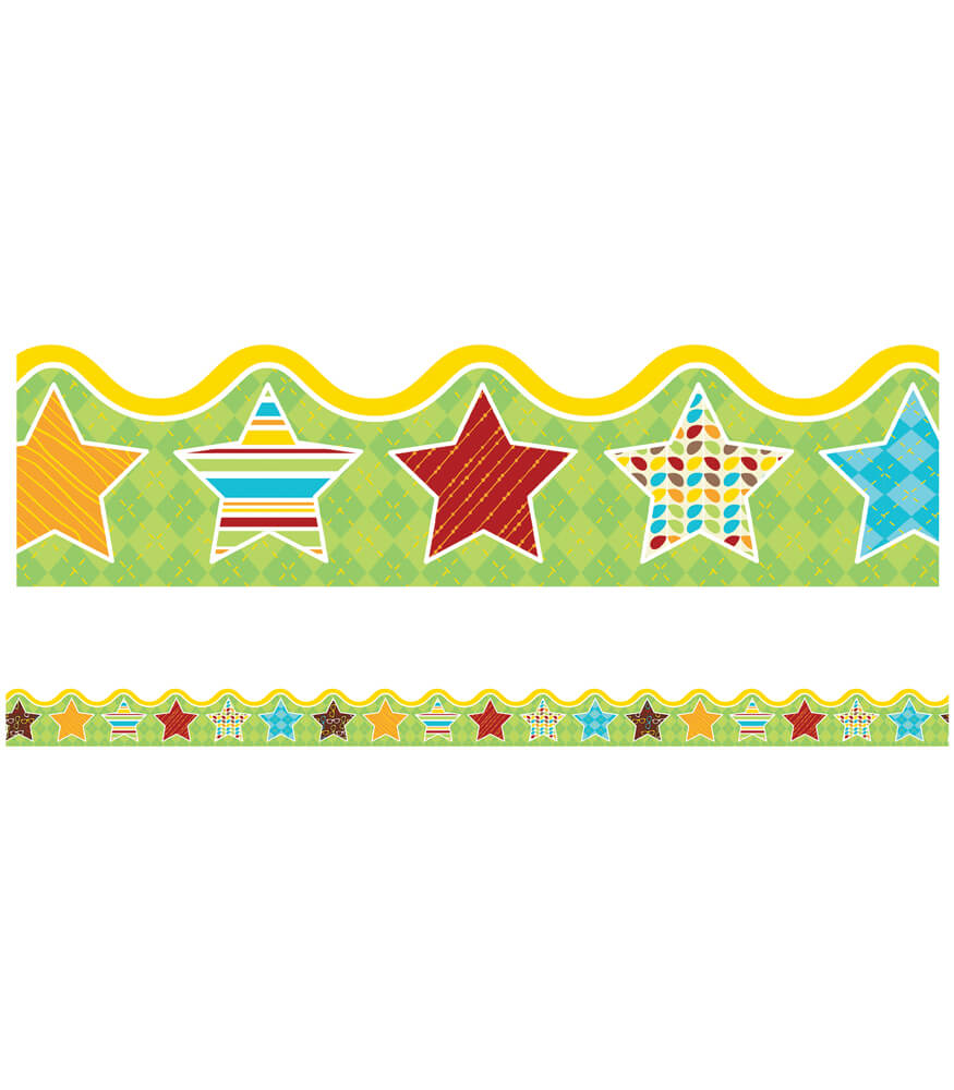 Hipster Hip-STARS Scalloped Borders Product Image