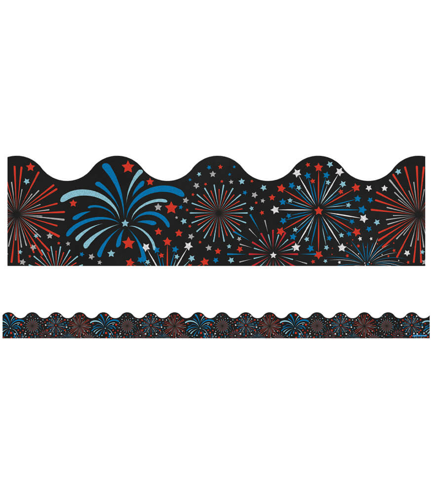Fireworks Scalloped Borders