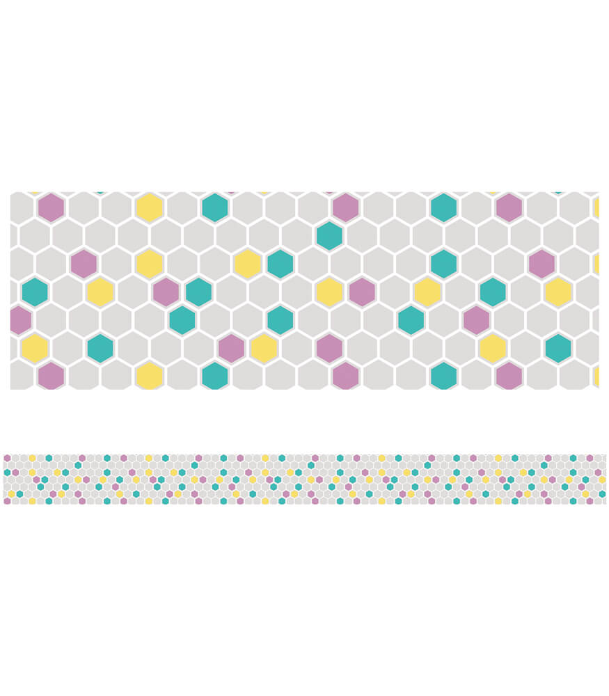 Colorful Hexagons Straight Borders Product Image