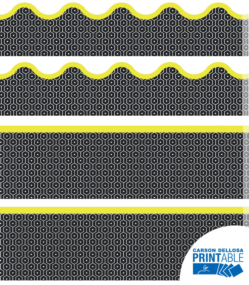 Hexagons Printable Border Set Product Image