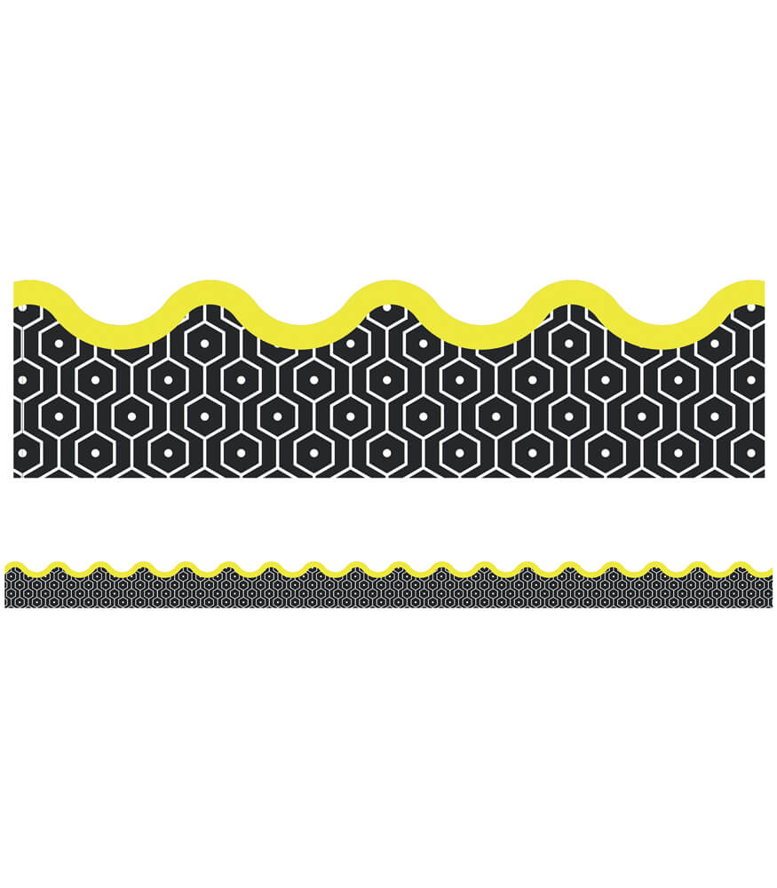 Hexagons Scalloped Borders
