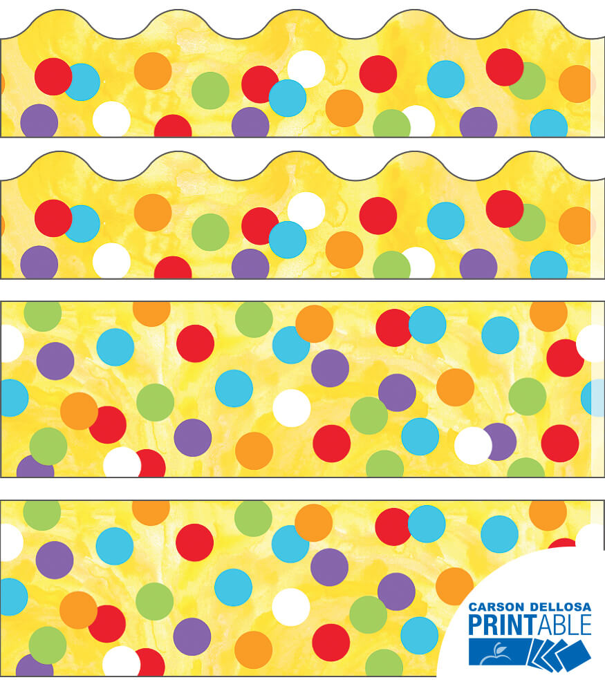 Confetti Printable Border Set