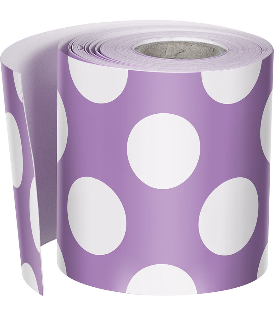 Purple with Polka Dots Straight Borders Product Image