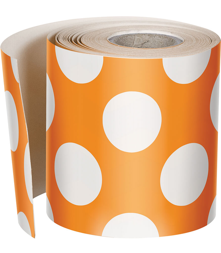 Orange with Polka Dots Rolled Straight Borders Product Image