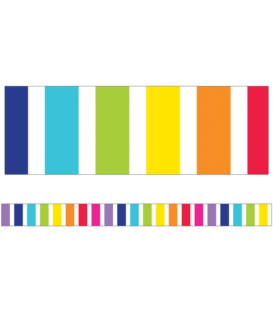 Vertical Rainbow Stripes Straight Borders Product Image