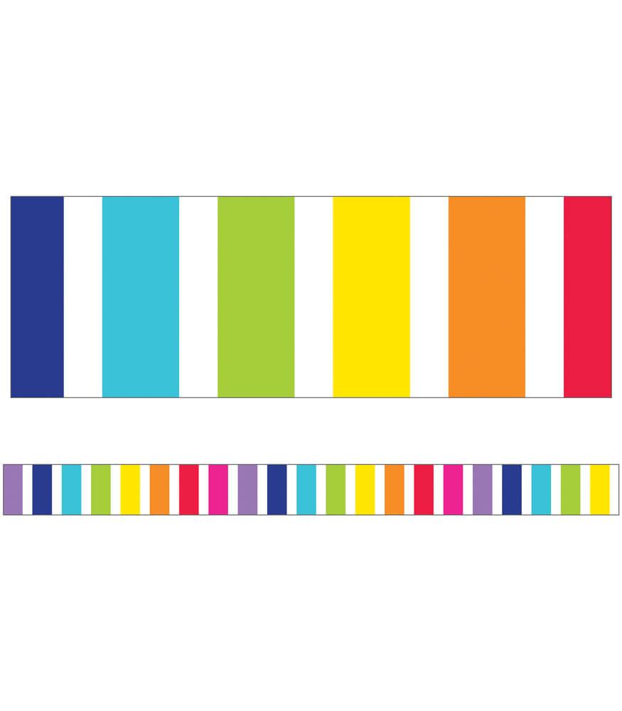 vertical rainbow stripes straight borders