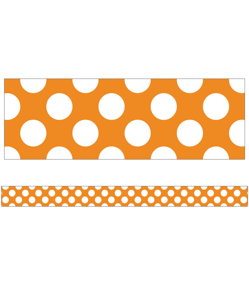 Orange with Polka Dots Straight Borders Product Image