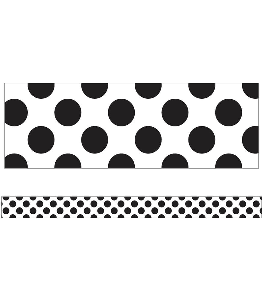 White with Polka Dots Straight Borders Product Image
