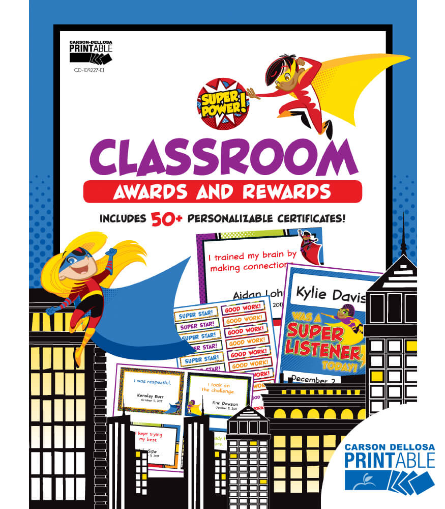 Super Power Classroom Printable Awards & Rewards