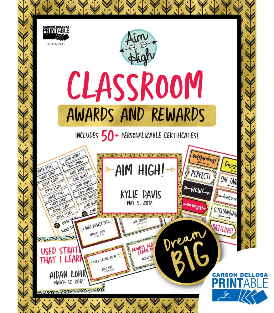 Aim High Classroom Printable Awards & Rewards Product Image