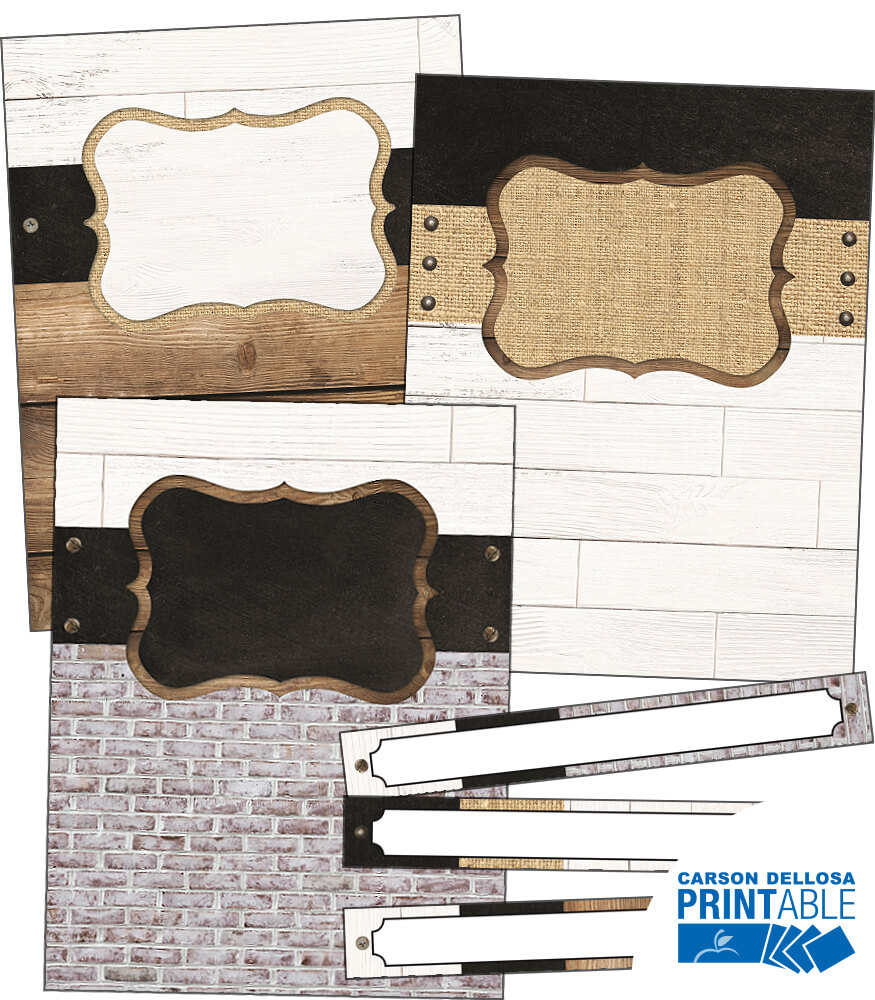 Industrial Chic Binder Covers and Spines Printable Labels & Organizers Product Image