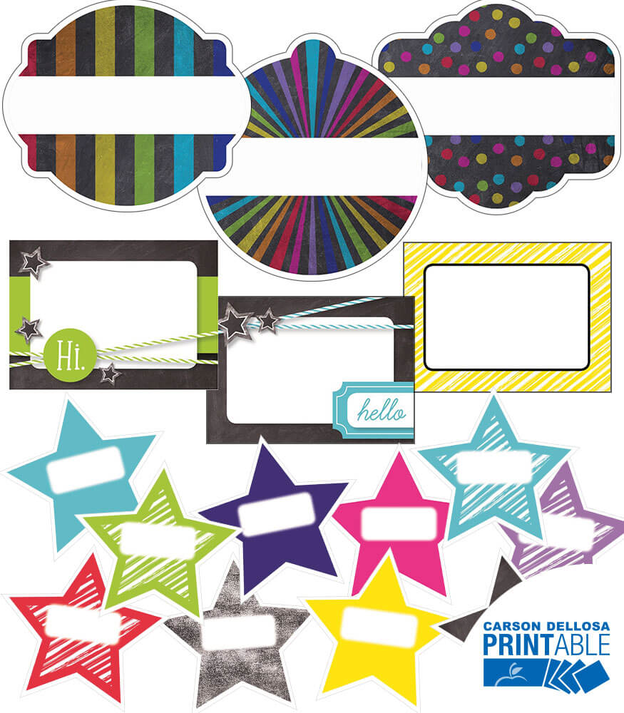 Twinkle Twinkle You're A STAR! Collection Printable Name Tags Product Image