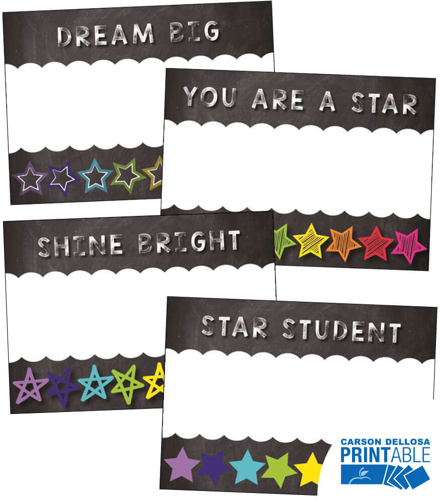 Twinkle Twinkle You're A STAR! Inspirational Printable Name Tags Product Image