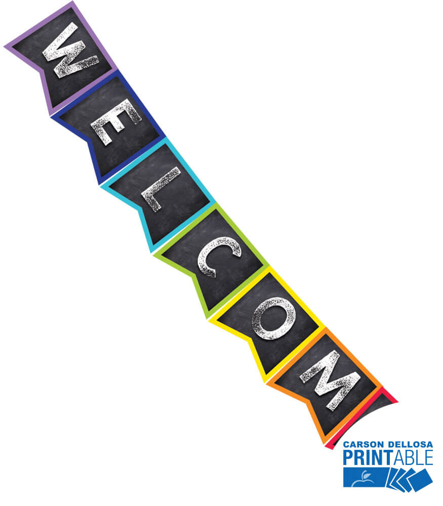 Twinkle Twinkle You're A STAR! Welcome Printable Pennants Product Image