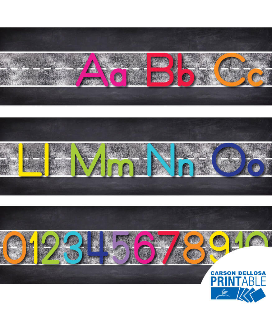 Twinkle Twinkle You're A STAR! Manuscript Alphabet Line Printable Bulletin Board Set Product Image