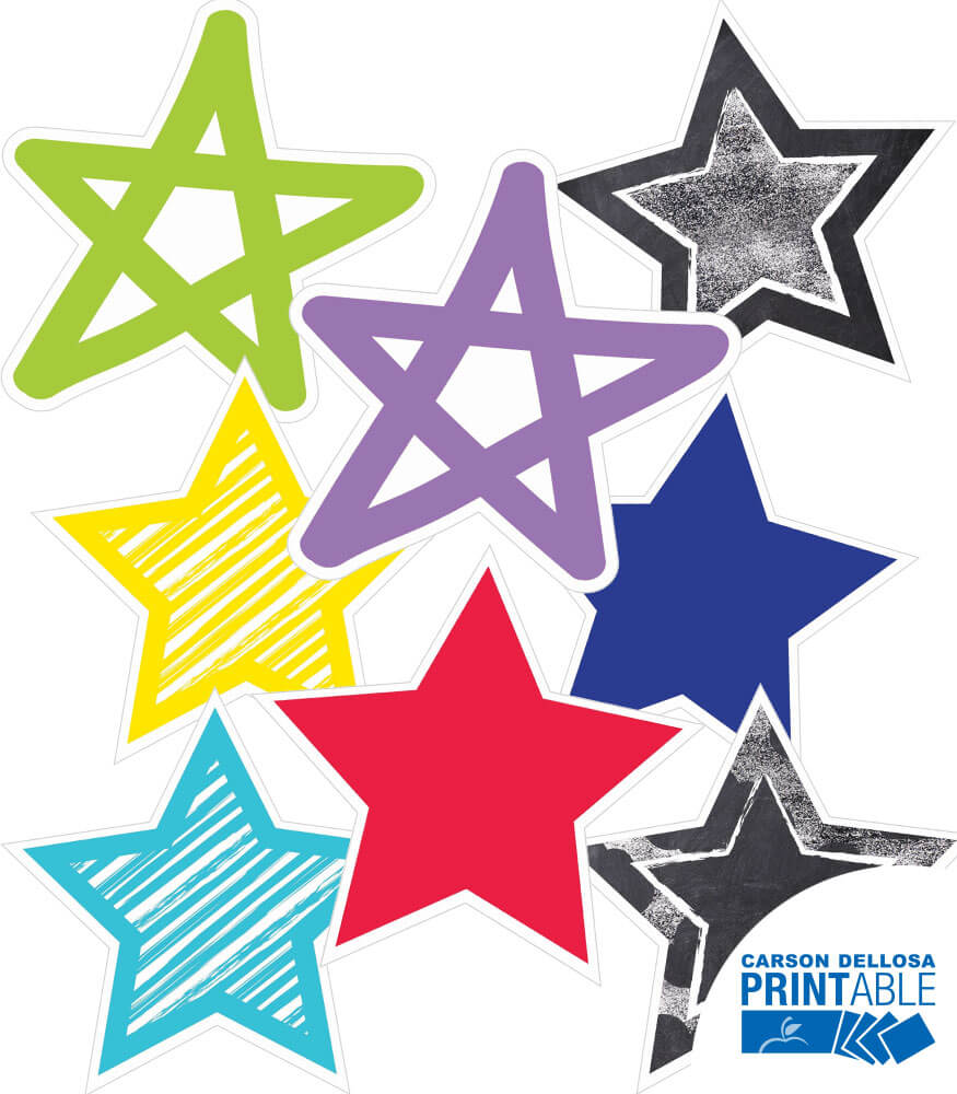 twinkle twinkle you re a star rainbow star 10in printable cut outs